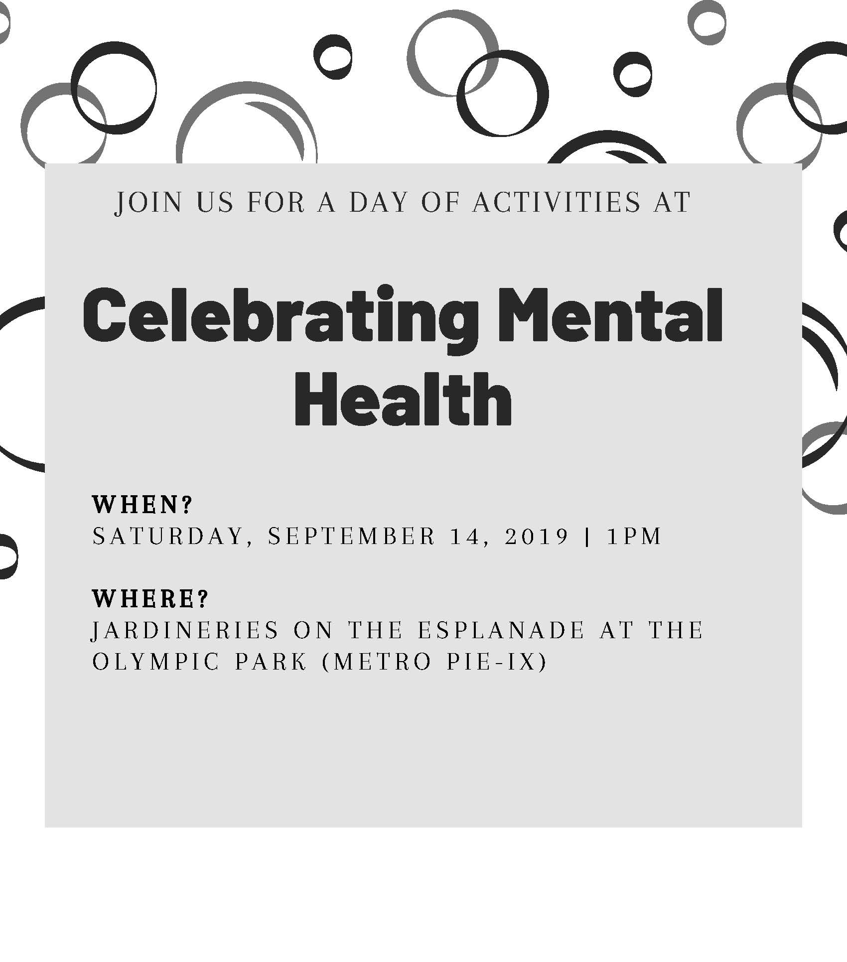 Celebrating Mental Health Day 2019