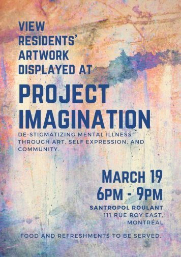 Projet Imagination Vernissage on March 19 6pm-9pm